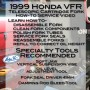 1999 Honda VFR Telescopic Cartridge Fork Service Video